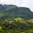Alpine landscape with houses in Tyrol — Stock Photo #6084755