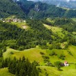 Stock Photo: Alpine landscape with houses in Tyrol