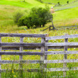 Old wooden fence and gate - Stock Photo