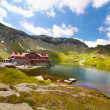 Lake and mountain (Balea Lake in Romania) — Stock Photo