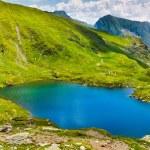 Lake and mountain (Capra Lake in Romania) — Stock Photo
