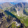 Stock Photo: Landscape with Fagaras mountains in Romania