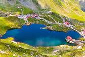 Lake and mountain (Balea Lake in Romania) — Stock Photo
