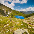 Lake and mountain (Capra Lake in Romania) — Stock Photo