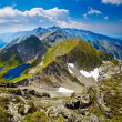 Landscape with Fagaras mountains in Romania - Stock Photo