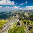 Landscape with Fagaras mountains in Romania — Stock Photo