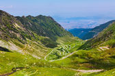 Landscape with Fagaras mountains in Romania with Transfagarasan — Stock Photo