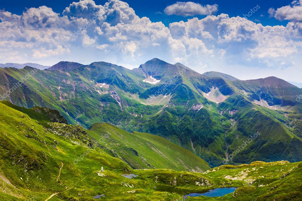 Landscape with fagaras mountains in romania stock photo for Romania landscape