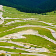 Transalpina winding road in Romania - Stok fotoğraf