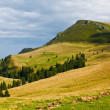 Landscape with mountains in Romania - Stock Photo
