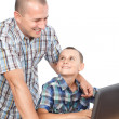 Father and son at the computer — Stock Photo #6316540
