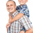 Father and son piggyback — Stock Photo #6316552