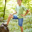 Boy outdoor in the forest — Stock Photo #6588396