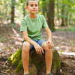 Boy outdoor in the forest — Stock Photo #6588403