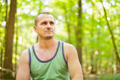 Sporty young man outdoor — Stock Photo