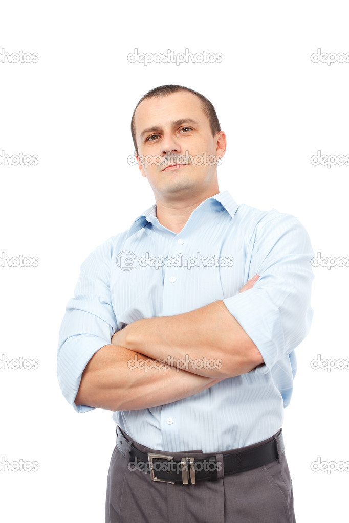 Portrait of a young businessman, isolated on white background — Stock Photo #6679299