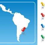 Постер, плакат: Latin America map illustration
