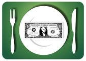 Eating savings — Stock Vector