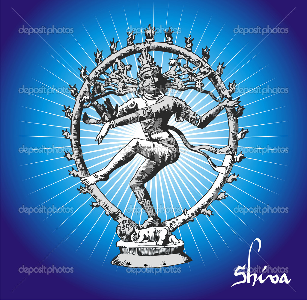 Vectorial Illustration of Shiva deity.  Stock Vector #5448538