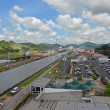 Stock Photo: PanamCanal overview