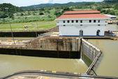 Panama Canal Locks — Stock Photo