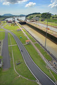 Panama Canal in a sunny day — Stock Photo