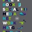 Face book Social Media Marketing — Stock Vector #5641909