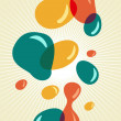 Royalty-Free Stock Vector Image: Retro style colors bubbles