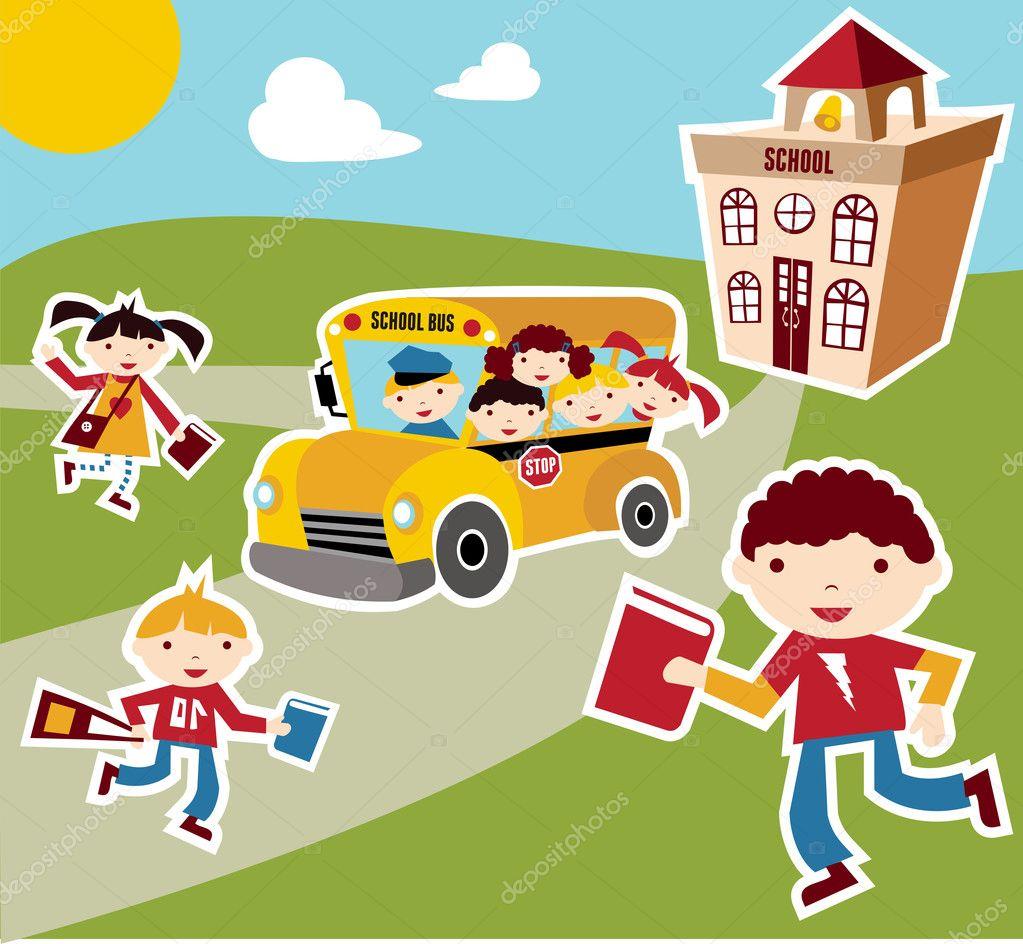 Back to School concept background — Stock Vector © cienpies