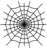 Black spiderweb isolated — Stok Vektör