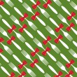 Christmas cutlery pattern background — Stock Vector