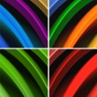 Multicolored waves abstract background — Stock Photo