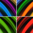 Royalty-Free Stock Photo: Multicolored waves abstract background
