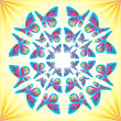 Butterflies Mandala — Stock Photo