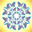 Butterflies Mandala — Stock Photo #6385291
