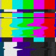 Stock Photo: TV bars signal error.