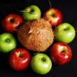 Colorful fresh group of fruits — Stock Photo #6386145