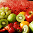 Stock Photo: Colorful fresh group of fruits