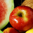 Colorful fresh group of fruits — Stock Photo #6386250