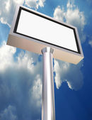Billboard blank lcd — Stock Photo
