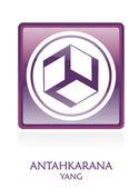 Antahkarana YANG icon Symbol — Stock Photo
