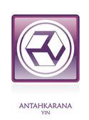 Antahkarana YIN icon Symbol — Stock Photo