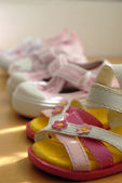 Kid cute shoes — Stock Photo