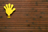 Plástico de la mano — Foto de Stock