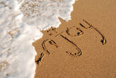 Message on the shore — Stock Photo