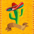 Mexican food cactus over grunge background — Stock Vector