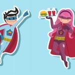 Superhero boys illustration — Stock Vector #6664187