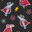 Royalty-Free Stock : Cartoons superhero kids pattern