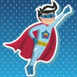 Superhero boy cartoon. — Stock Vector