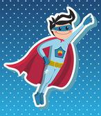 Superhero boy cartoon. — Stock Vector